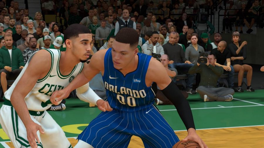Aaron+Gordon+and+Jayson+Tatum+battling+for+post+position+in+NBA+2K19