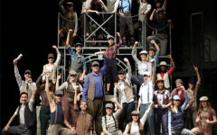 The Newsies cast recreates the photo from the original article written for the article,
