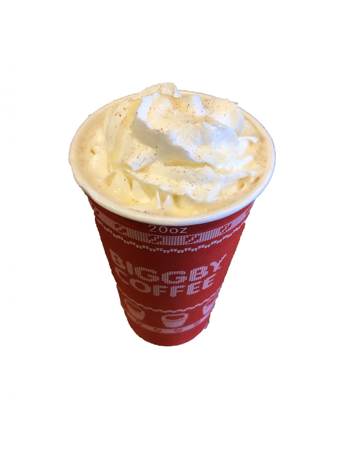 The Winter Wonderland latte is available at Biggy throughout the rest of December. Costumers can purchase a tall, grande, or super size.