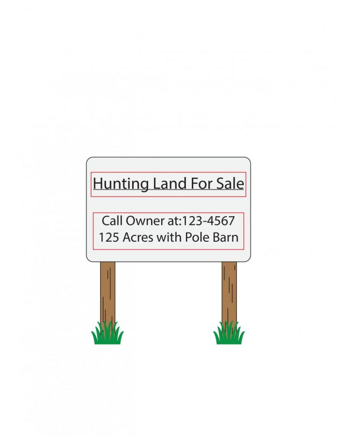 The+hunting+land+for+sale+illustration+is+supposed+to+represent+that+the+selling+of+land+is+one+of+the+problems+causing+people+to+stop+hunting.