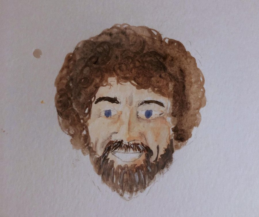 One+of+the+Comets%27+Tale+staff%2C+Sydney+Mullet%2C+painted+this+picture+of+Bob+Ross.