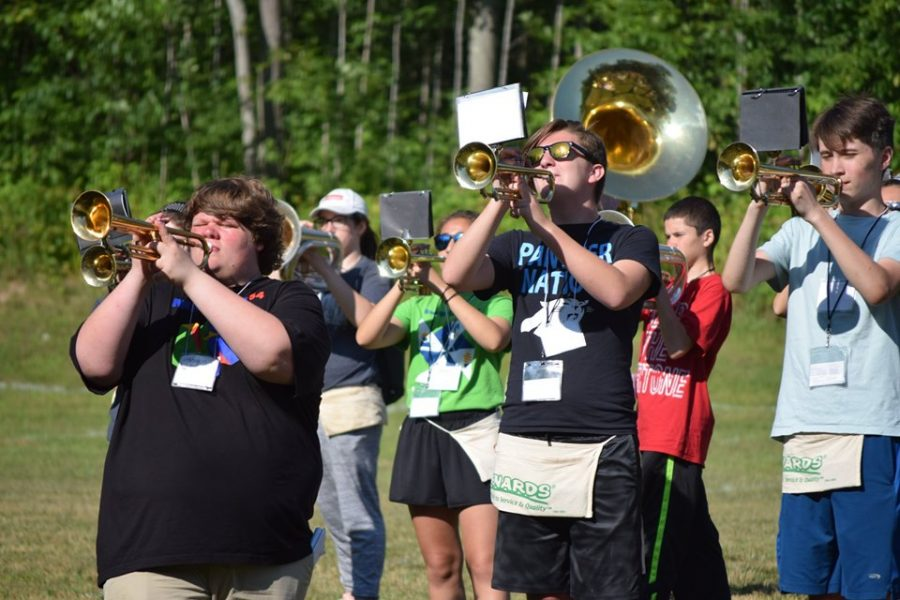 The+Comet+Marching+Band+rehearses+tirelessly+to+prepare+for+another+marching+season.