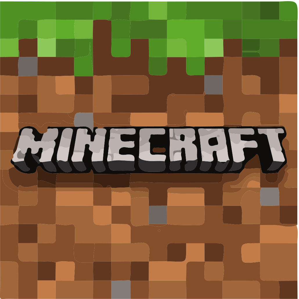 The iconic dirt block of Minecraft sparks nostalgia for many players of the game. At Grand Ledge, the logo is well known school-wide.