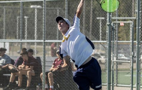 Local Tennis Player Swings for States