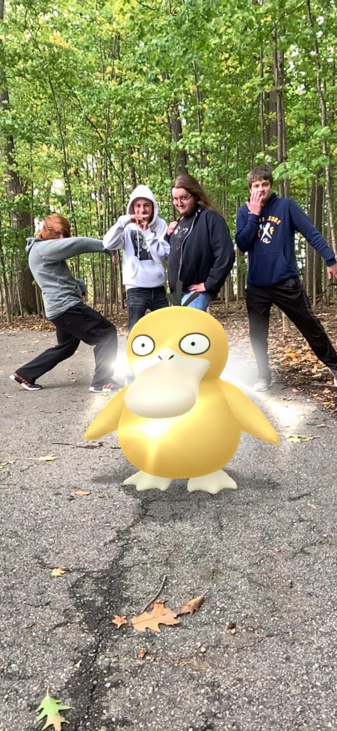 Grand Ledge high school students enjoying their afternoon playing Pokemon GO. These students played  Pokemon GO at Hawk Meadow, in Delta Township.