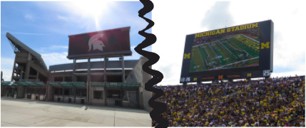 The MSU vs. U of M football game is always a highlight to the college football season in Michigan.