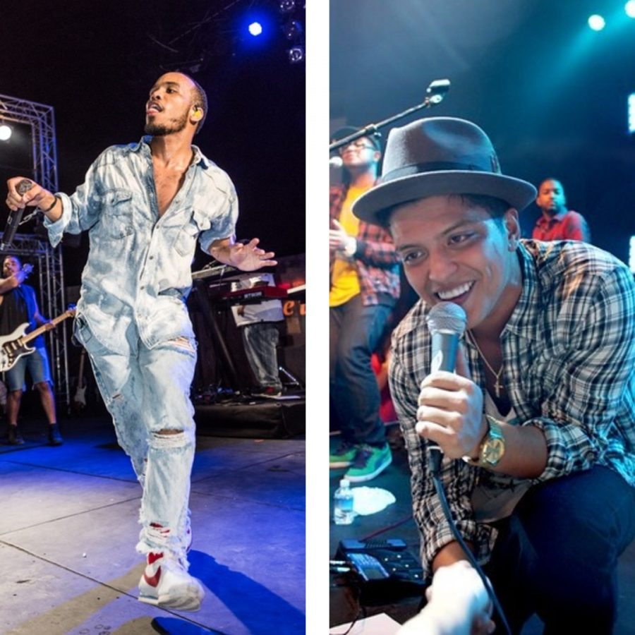 Anderson+.Paak+and+Bruno+Mars+on+stage%27s.