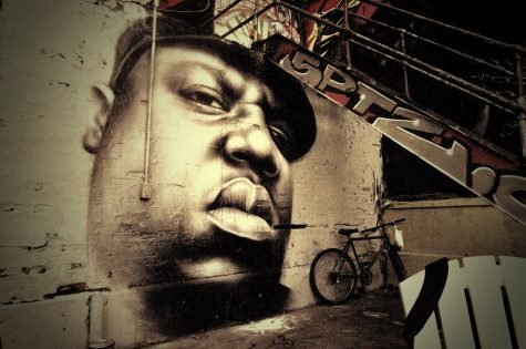 Mural of Biggie Smalls at 5 pointz.