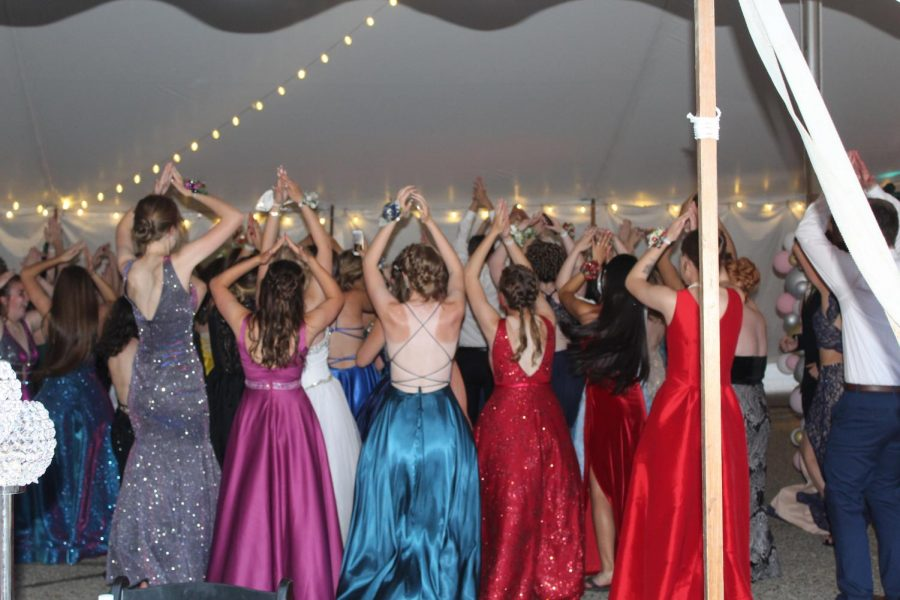 The class of 2021 shares one more dance, jamming out to The YMCA.
