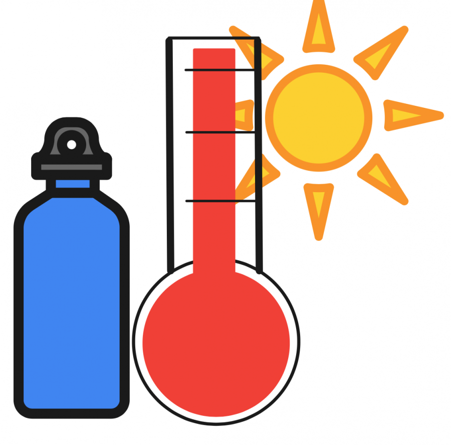 Water is one of the most important drinks when it comes to an heat wave.